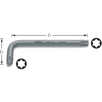 TORX® Winkelschraubendreher 2115-T55 · T55· Innen TORX® Profil