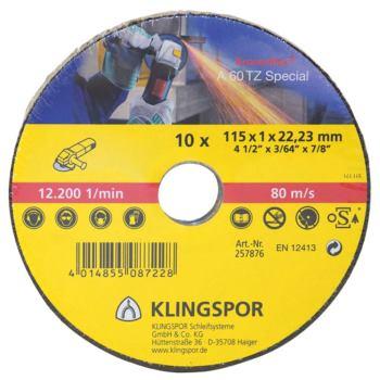 Trennscheibe, SPECIAL, A 60 TZ, gerade, 125x1x22,23 mm, SB-verpackt