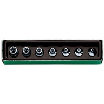 Steckschlüssel 3/8 Inch 7-teilig E 5 - E 14 Außen