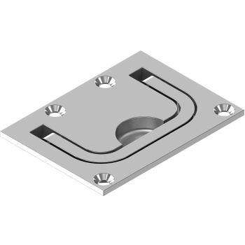 Bodenheber, Feinguss poliert - Edelstahl A4 76x56 mm