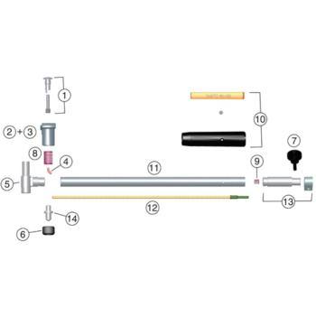 SUBITO Messuhrhalter für 280 - 800 mm Messbereich