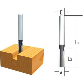 Nutfräser Ø 3mm Einschneider ( Schaft 8mm )