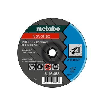 Novoflex 230x6,0x22,23 Stahl, Schruppscheibe, gekr