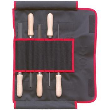 Feilen 5-teilig 200 mm Hieb 2 mit Buchenholzheft