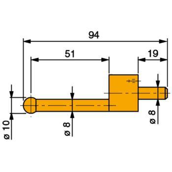 TESA Messeinsatz mit Hartmetall-Kugel 10 mm Durchm
