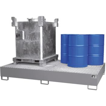 Stahl-Auffangwanne für 2x IBC/10x200l-Fass LxBxH 2