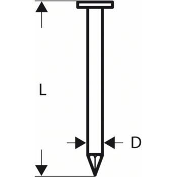Dachpappennagel CN 45-15 HG 28 mm, feuerverzinkt