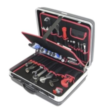 Hartschalenkoffer 2-H2, komplett, mit Sanitär-Heiz ung-Werkzeugpaket 2, 47-teilig