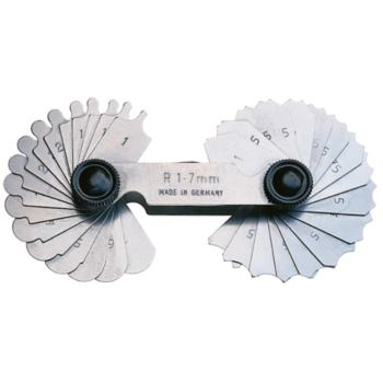 Radienschablone R 7,5 - 15 mm = je 16 Blatt