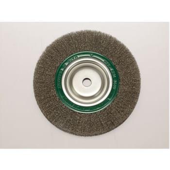 Rundbürsten Drm 200 mm breit 40-45 mm Rohr 80 m m Stahldraht rostfrei ROF gew. 0,30 mm