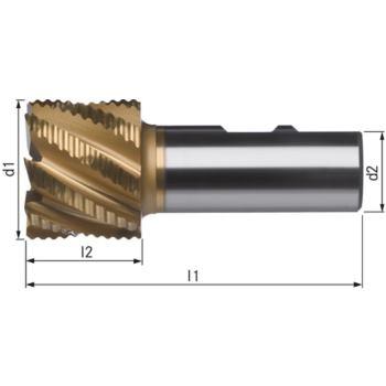 Schaftfräser extrakurz TICN+ 50 mm HSSE5-TICN+TIN