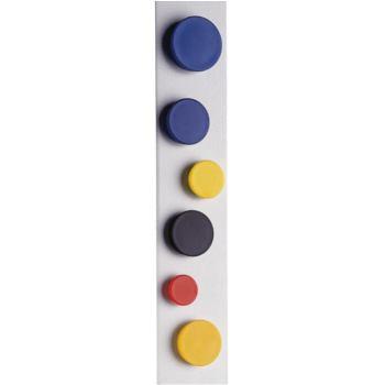 Organisations-Magnet 34 mm Durchmesser weiß