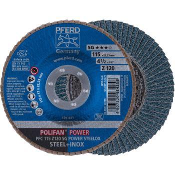 POLIFAN®-Fächerscheibe PFC 115 Z 120 SG/22,23