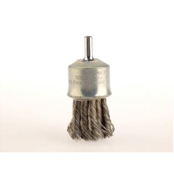Zopf-Pinselbürsten mit 6 mm Schaft Drm 29 mm 12 Zöpfe mit Blume Stahldraht rostfrei RO4 glatt 0,