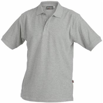 Polo-Shirt grau-melange Gr. 5XL
