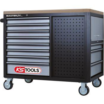 Werkstattwagen mit 11 Schubladen + 2 Regalböden 87