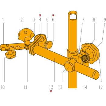 Ersatzteil zum -Stativ Querträger (M6x0,5) Teil-Nr