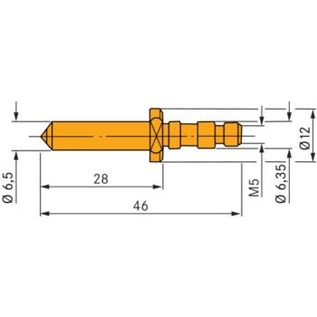 Kugelhalter (HB) mit 10 mm HM-Kugel, eingepresst F
