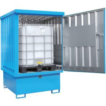 Gefahrstoff-Depot für 2 x 200l Fässer LxBxH 1525x1