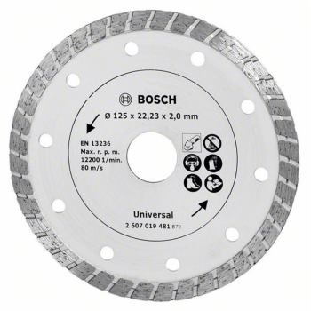 Diamanttrennscheibe Turbo, Durchmesser: 125 mm