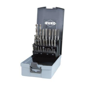 Handgewindebohrer Kassetten Kunststoff,Set HSS 28