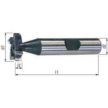 Schlitzfräser HSSE5 DIN 850 kreuzgez. 6x10 (25,5x