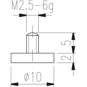 Messeinsatz Typ 11 plan, Durchmesser 10 mm