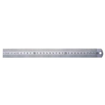 Maßstab nichtrostend 300 mm mattverchromt