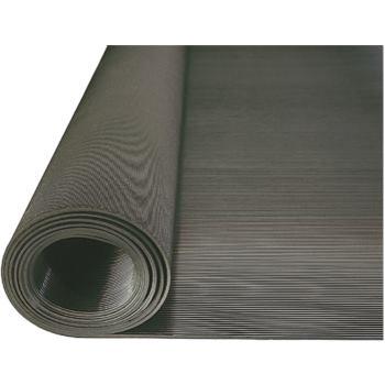 Gummi-Feinriefenmatte schwarz Rolle 10 x 1 m 3 mm