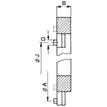 Backen-Ausdreh-Vorrichtung, Größe 4, für Futter Größe 315, für Dreibackenfutter