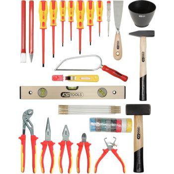 Elektriker-Werkzeugkoffer, Rinderlederkoffer 117.0
