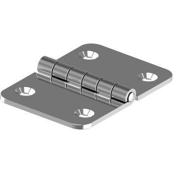 Scharnier, gestanzt 90 X 60 X 3 mm, A2