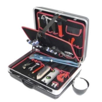 Hartschalenkoffer 5-H2, komplett, mit Sanitär-Azub i-Werkzeugpaket 5, 25-teilig