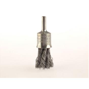 Zopf-Pinselbürsten mit 6 mm Schaft Drm 19 mm 6 Z öpfe mit Blume Stahldraht STH glatt 0,25 mm hoc