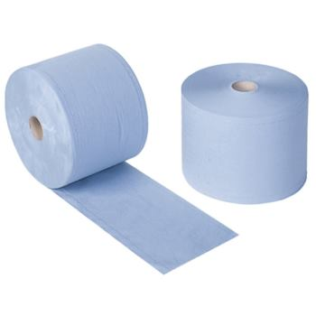 Papier-Wischtücher blau auf Rolle 38 x ca. 24 cm,