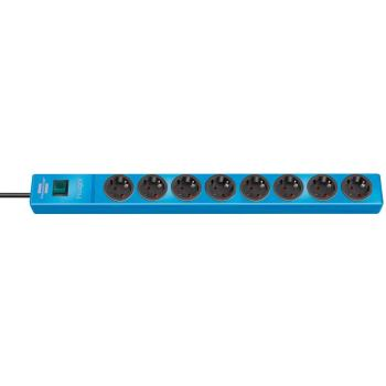 hugo! Steckdosenleiste 8-fach blau 2m H05VV-F3G1,5