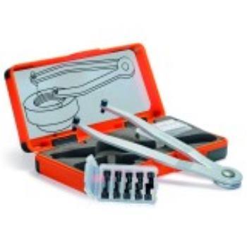 Verstellbarer Stirnlochschlüssel-Sat 50427