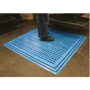 Fußbodenrost LxBxH 1200x600x25 mm Farbe blau