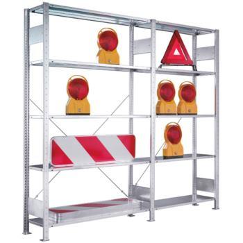 Bürosteckregal verzinkt mit 6 Böden Anbaurega