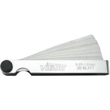 Fühlerlehre, 20 Blatt, 0,05-1,00 mm