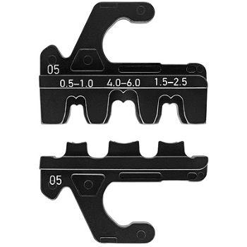 Crimpeinsatz für unisolierte, offene Steckverbinde r (4,8 + 6,3 mm Steckerbreite) mm