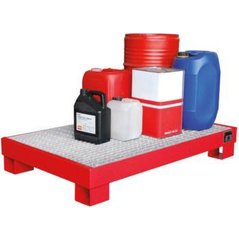 Stahl-Auffangwanne für 4 Fässer mit 200 l LxBxH 12