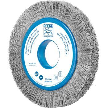 Rundbürste mit Plastikkörper, ungezopft RBUP 20025/50,8 SiC 80 1,10