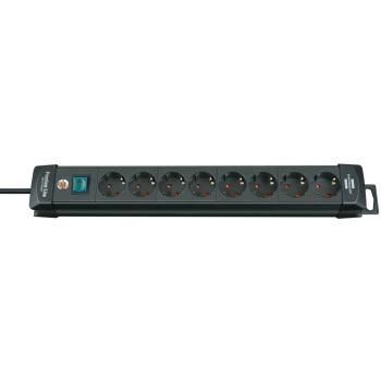 Premium-Line Steckdosenleiste 8-fach schwarz 3m H0