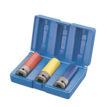 "Steckschlüssel-Set 1/2"" Vkt.; 3-teilig farbige Kun"