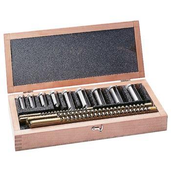 Stoßräumnadel-Satz im Holzkasten 10, 12 und 14 mm