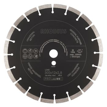 Diamanttrennscheibe LD 40,300x7x2,5x25,4mm inkl. R
