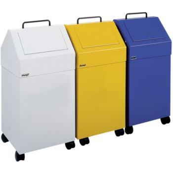 Wertstoffsammler 45 l fahrbar enzianblau HxBxT 710