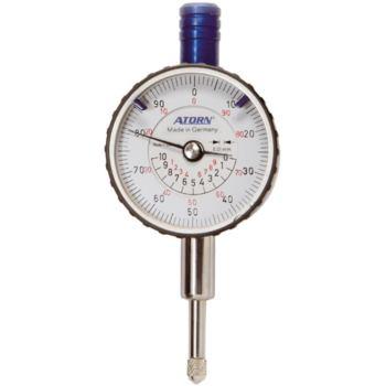 Kleinmessuhr 10 mm Messspanne 0,01 mm Skw. mit kon zentrischer mm-Anzeige