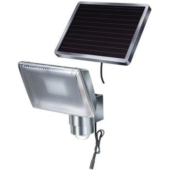 Solar LED-Strahler SOL 80 ALU IP44 mit Infrarot-Bewegungsmelder 8xLED, Kabellänge 4,75m, ALU
